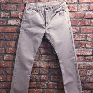 Levi's 513 khaki slim straight pants